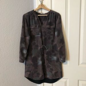 Rebecca taylor purple haze silk shirt cinch dress